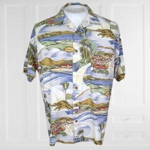 Monzini vintage California Golf Hawaiian shirt L